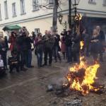 Сожжение чучела Андрея Разина