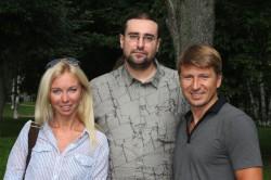 Алексей Ягудин с женой и Василий Козлов (2013)