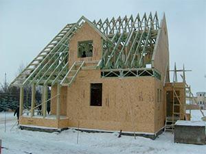Строительство дома из деревянного каркаса