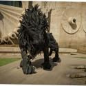 Лев из автомобильных покрышек южнокорейского скульптора Джи Йонг-Хо