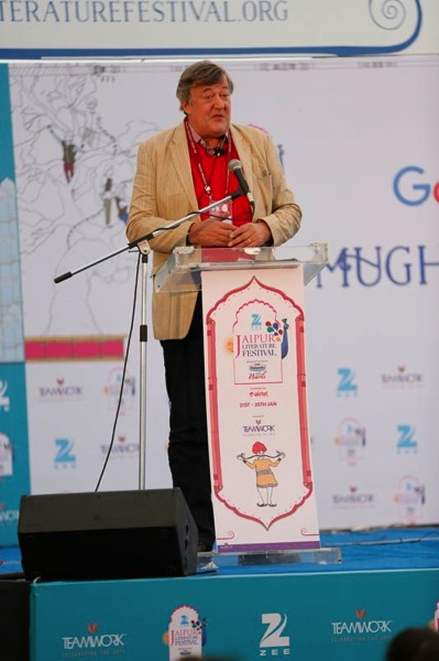 Stephen Fry at the ZEE JLF