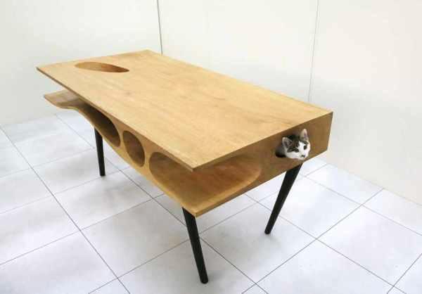 Стол с тоннелем для кошек от Ruan Hao