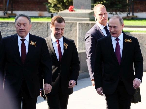 Назарбаев, Медведев, Путин