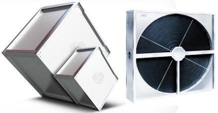 Противоточный пластинчатый рекуператор и роторный регенератор тепла