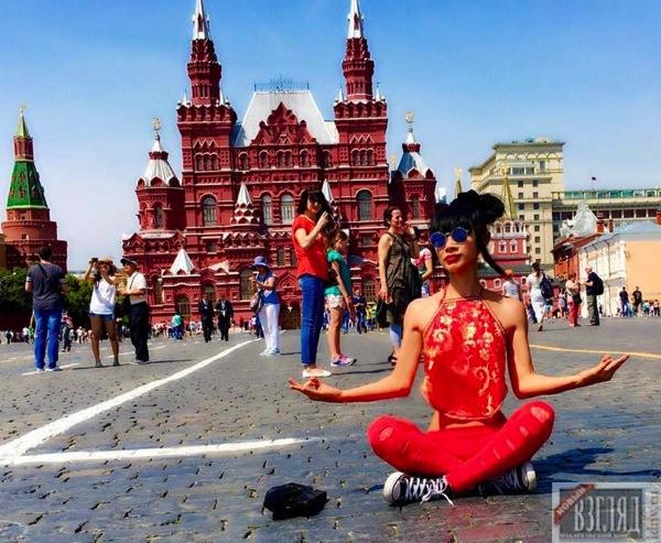 Бай Лин на Красной площади