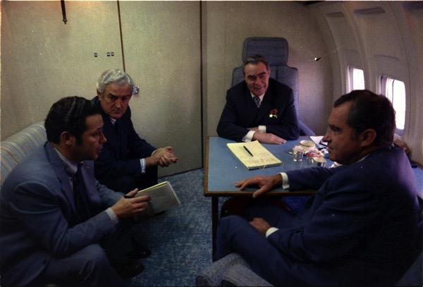 Spirit of 76 enroute to San Clemente California with General Secretary Brezhnev NARA 194524