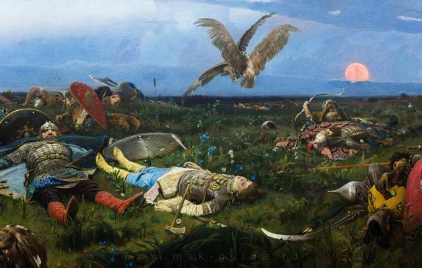 «После побоища Игоря Святославича с половцами». Виктор Михайлович Васнецов