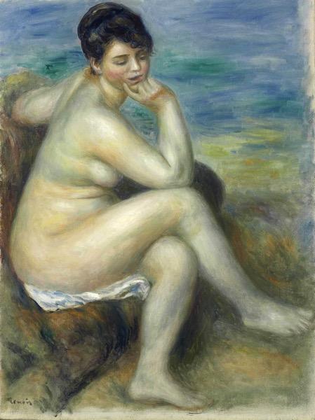 1882 Купальщица сидящая на камне  Bather Seated on a Rock 54 3 х 40 3 х м Частное собране