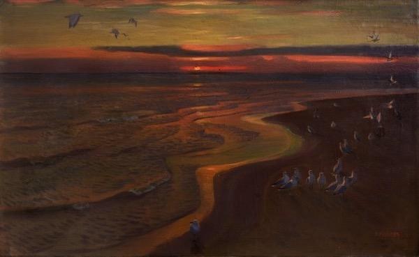 Аркадий Александрович Рылов. «Чайки. Закат». 1922