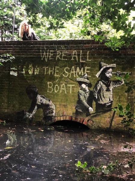 Новое уличное художество приписали Бэнкси